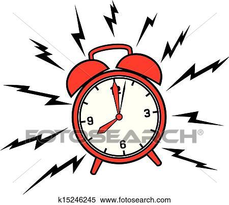 clipart of classic alarm clock k15246245 search clip art rh fotosearch com free clipart alarm clock alarm clock clipart png