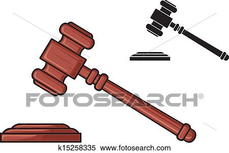 clipart of gavel hammer of judge k15258335 search clip art rh fotosearch com clipart javelin clip art gallery online