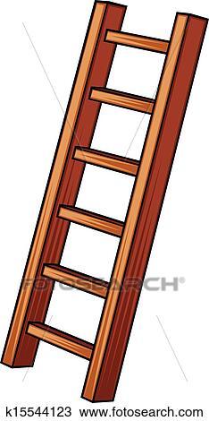 Clipart Of Illustration A Wooden Ladder K15544123