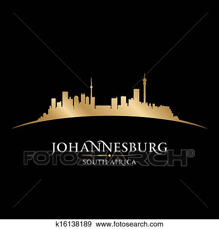 Clip art of johannesburg south africa city skyline silhouette clip art johannesburg south africa city skyline silhouette vector illustration fotosearch search thecheapjerseys Images