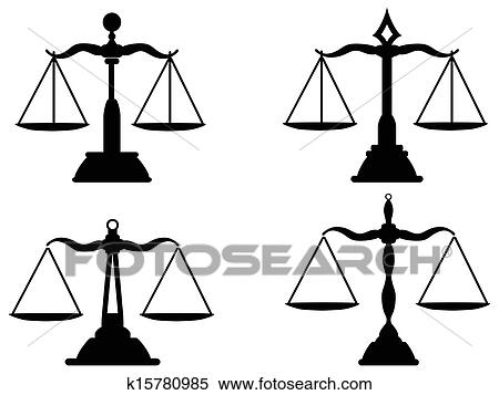 clipart of justice scales silhouette k15780985 search clip art rh fotosearch com clipart justice scales image clipart justice