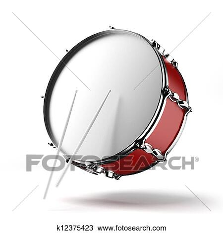 Drawing of Bass drum k12375423 - Search Clipart ...