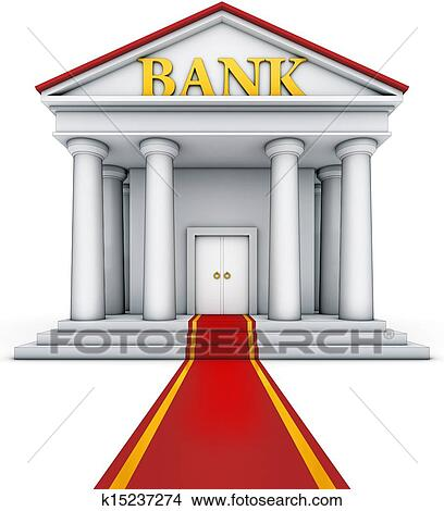 Drawings of bank building k15237274 - Search Clip Art ...