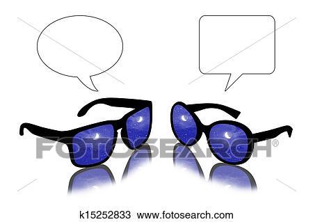 太阳镜, 对话