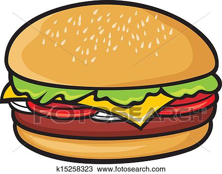 Clipart of hamburger k15258323 - Search Clip Art ...