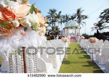 Banques de photographies ext rieur mariage k15462990 for Saaldekoration hochzeit