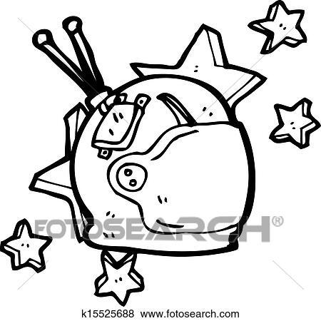 Clipart dessin anim astronaute casque k15525688 recherchez des cliparts des - Dessin d astronaute ...