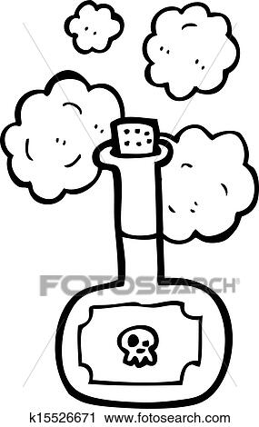 Clipart of deadly poison bottle cartoon k15526671 - Search Clip ...