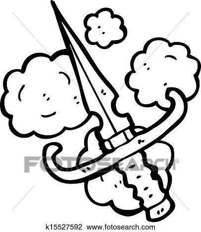 Clipart of cartoon dagger k15527592 - Search Clip Art ...
