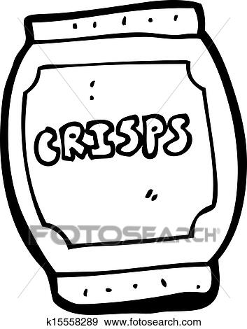 Clip Art of cartoon potato chips bag k15558289 - Search Clipart ...