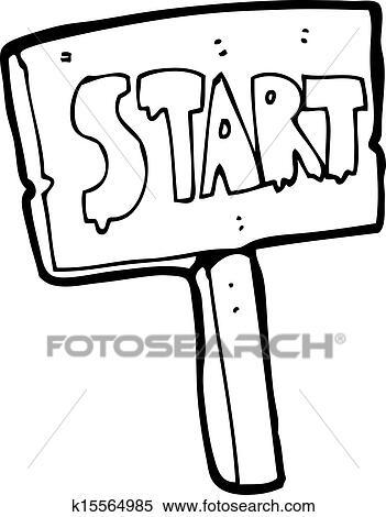 Clip Art Start Clipart clipart of cartoon start sign k15562325 search clip art race sign