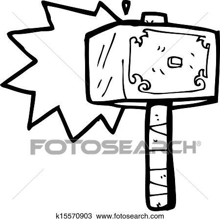 Clipart dessin anim marteau de thor k15570903 - Dessin de marteau ...