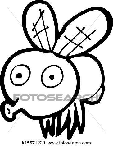Clipart dessin anim rigolote mouche k15571229 - Dessin de mouche ...