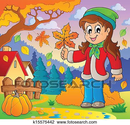 剪贴画 - 秋季, 主题,