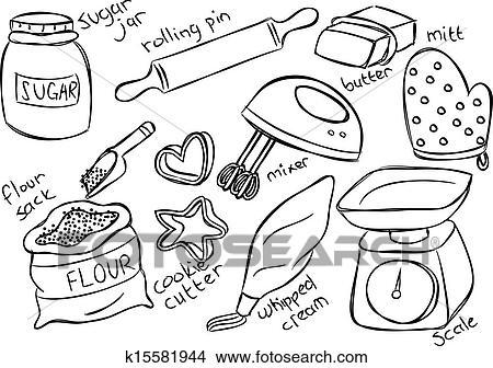 Baking Equipment Drawing Clipart Baking Stuff