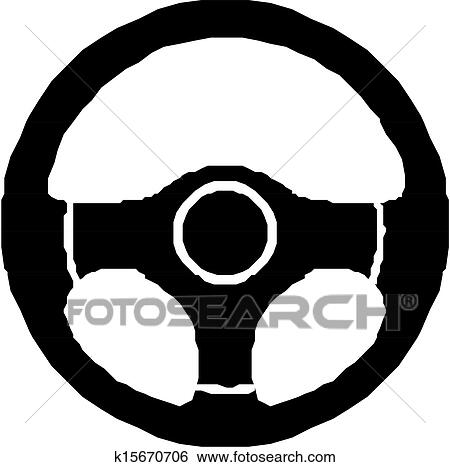 Clip Art of Steering wheel, icon k15670706 - Search ...