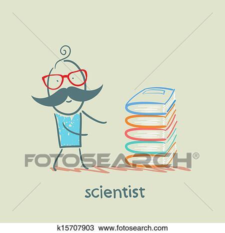 手绘图 - 科学家, 带,