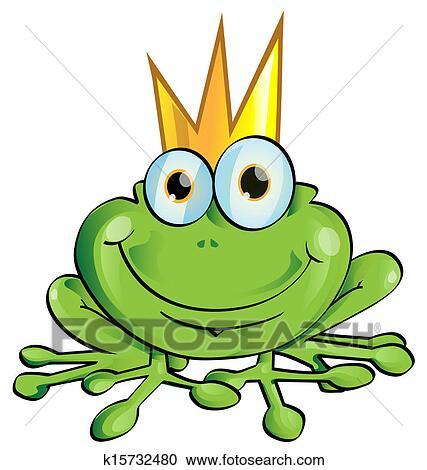 clipart frosch f rst k15732480 suche clip art illustration wandbilder zeichnungen und. Black Bedroom Furniture Sets. Home Design Ideas