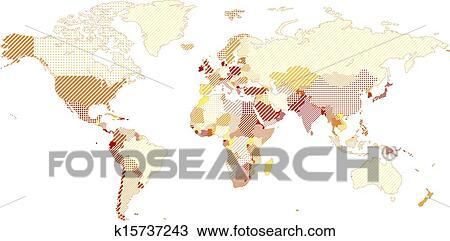 地囹kΈ�_剪贴画 - 世界地图 k15737243 - 搜寻边框,底纹背景及