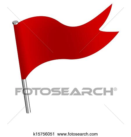 Clipart of Push pin flag k15756051 - Search Clip Art, Illustration ...