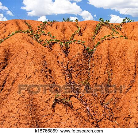 Stock photograph of background with soil erosion k15766859 for Soil erosion in hindi