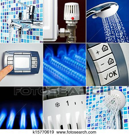 Stock illustration of water heating set k15770619 search for Convector mural