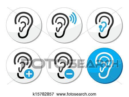 Clipart oreille appareil acoustique sourd probl me - Clipart oreille ...