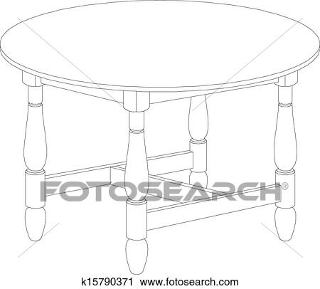 round table clipart black and white. clipart - round table drawing . fotosearch search clip art, illustration murals, drawings black and white