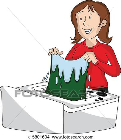 Clipart - vector, de, mujer, hacer, laundry. k15801604 - Buscar ...