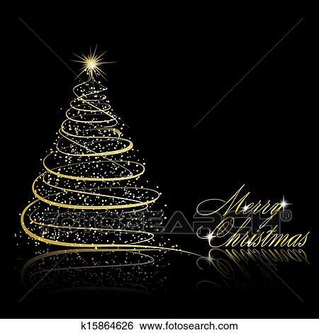 Clip art weihnachtsbaum auf schwarzer hintergrund k15864626 suche clipart poster - Schwarzer weihnachtsbaum ...