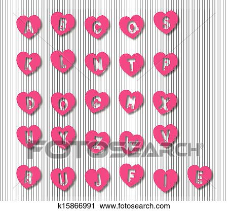 Stylish k Alphabet in Heart Alphabet Letters Heart