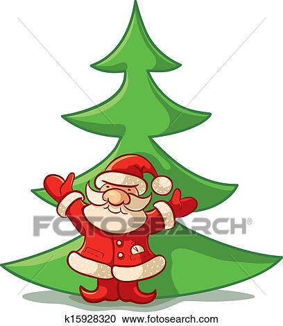 剪贴画 圣诞老人, ans, 圣诞树