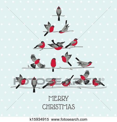clipart fr her weihnachtskarte v gel auf. Black Bedroom Furniture Sets. Home Design Ideas