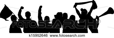 Clip Art of Fans Cheering k15952646 - Search Clipart ...