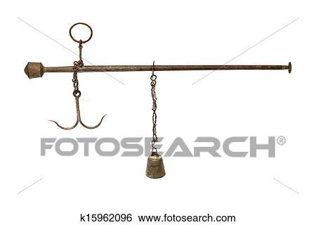 banque d 39 images antiquit asiatique balance romaine isol blanc k15962096 recherchez des. Black Bedroom Furniture Sets. Home Design Ideas