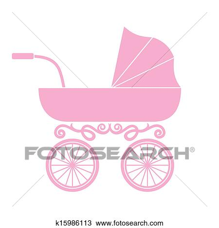 Clipart of Pram - baby carriage k15986113 - Search Clip Art ...