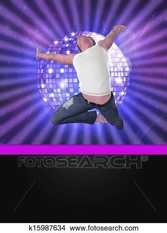 手绘图 - 男性, 舞蹈演员图片