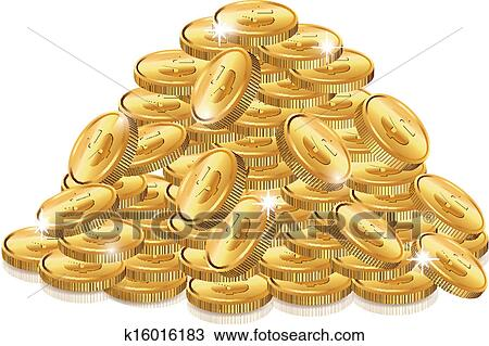 Clipart of Lots Of Coins k16016183 - Search Clip Art, Illustration ...