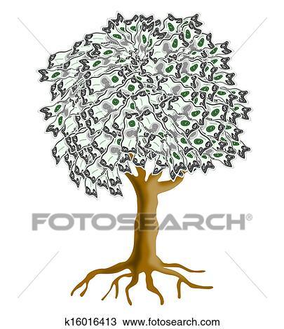 手绘图 - 钱树