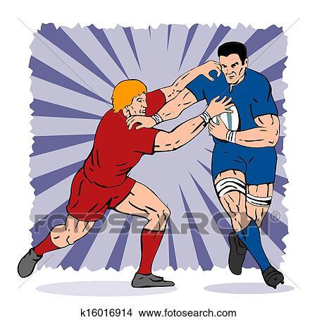 Dessins joueur rugby empoigner k16016914 recherche de clip arts d 39 illustrations et d - Dessin de joueur de rugby ...