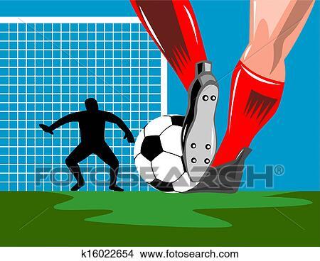 手绘图 - 英式足球守门员, 球图片
