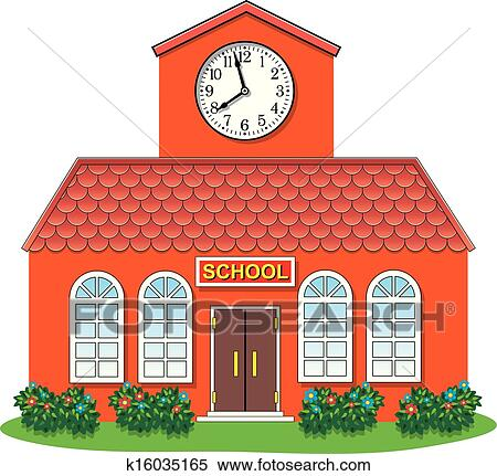Clipart Of Vector Country School Building K16035165