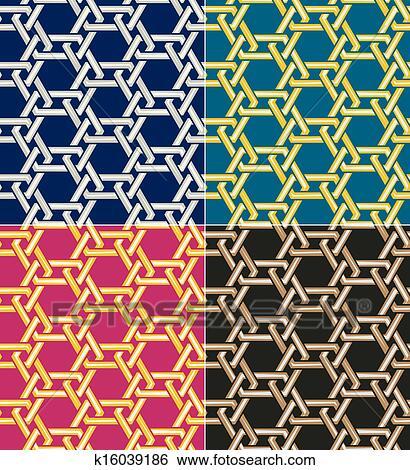 Clip art seamless islamic geometric pattern fotosearch search