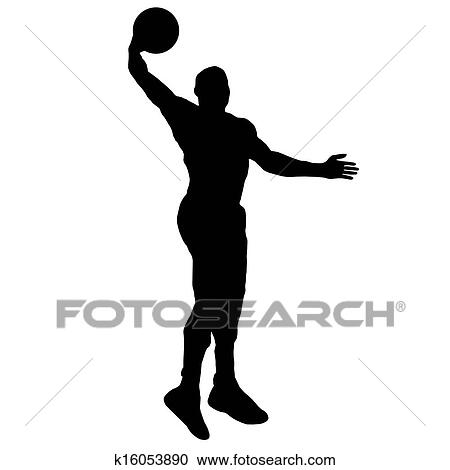 Clipart of basketball player with ball k16053890 - Search ...