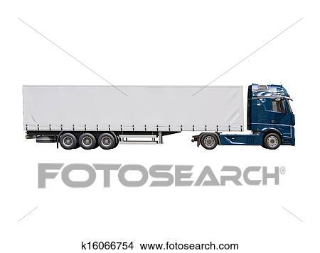 Dessins semi remorque camion isol k16066754 - Dessin de camion semi remorque ...