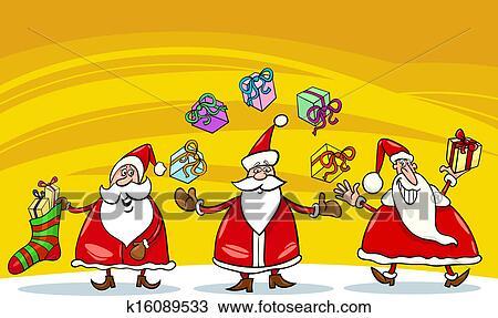 剪贴画 - 圣诞老人, 圣诞节