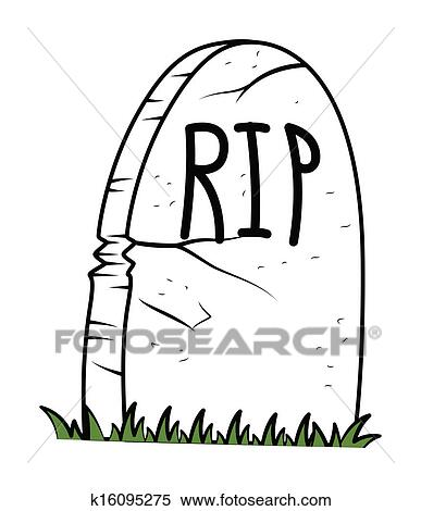 Clipart of Halloween Gravestone Vector k16095275 - Search Clip Art ...