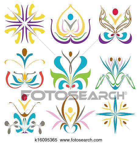 clipart symboles pour spa sant et richesse k16095365 recherchez des clip arts des. Black Bedroom Furniture Sets. Home Design Ideas
