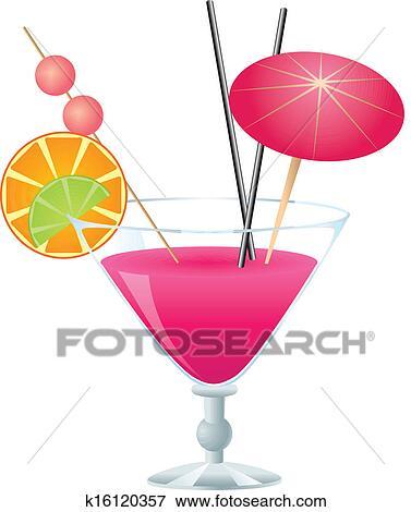 Clipart rose cocktail k16120357 recherchez des cliparts des illustrations des dessins et - Dessin cocktail ...