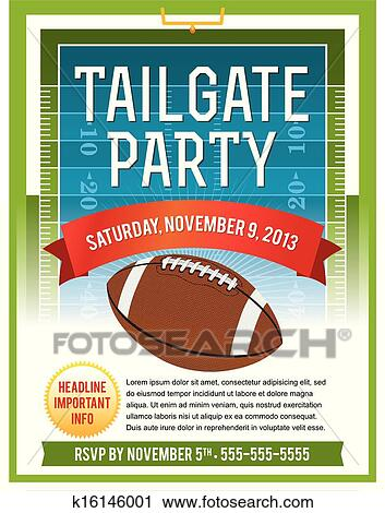Clip Art Tailgate Clipart tailgate clip art royalty free 111 clipart vector eps american football party flyer design